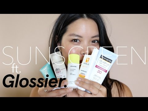 Sunscreen ft. GLOSSIER!!