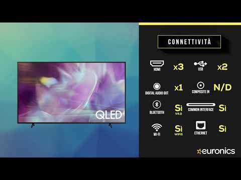"SAMSUNGTV QLED 4K 55"" QE55Q60A Smart TV Wi-Fi  2021Black"