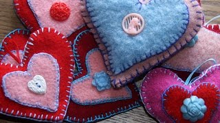 Lavender Felt Heart Sachets, Perfect For Valentines Day! How To Felt Wool Fabric Or Knit