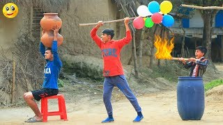 New Top Funny Comedy Video 2020__Very Funny Stupid Boys__Episode-99--Indian Fun || ME Tv