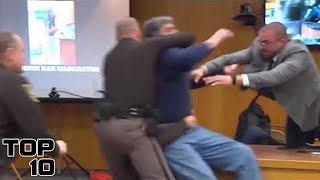Top 10 Insane Courtroom Freak Outs After Sentencing - Part 2