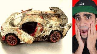 """شخص يعيد بناء سيارة بوغاتي لعبة منتهية """" صارت روعة """""""