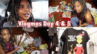 Christmas Afro Wreath Party Preparation| Walmart run + Dollar Tree Christmas haul #vlogmasday4&5