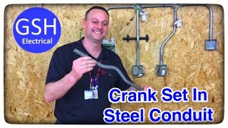 Electrical Practical Skills Bending a Crank Set in Steel Conduit (How to Make bubble set or bridge)