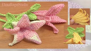 Crochet Bell Flower Tutorial 71 Part 2 Of 2 Free Crochet Flower Patterns