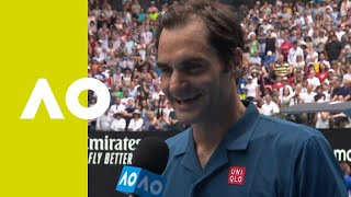 Roger Federer on-court interview  (2R) | Australian Open 2019