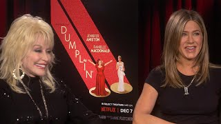 Jennifer Aniston Is 'Dying on the Inside' After Befriending Dolly Parton (Exclusive)
