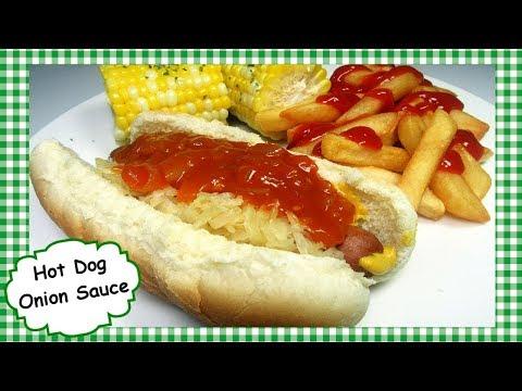 BEST Copycat Sabrett's Red Onion Hot Dog Sauce Recipe ~ NYC HotDog Cart Style