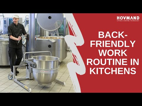 How to handle and lift big pots in kitchen and bakeries Icon