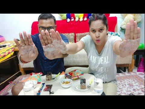NO THUMBS FOOD EATING  CHALLENGES #Fun Challenge #Couple Challenge #Lucknowigirlruchi