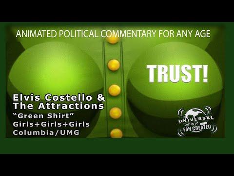 , title : 'Elvis Costello - Green Shirt - Music Video/Lyrics - Tony Tuthill Art'