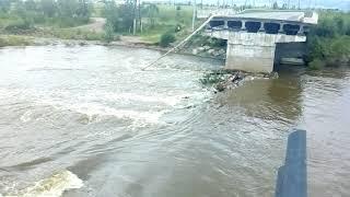 Смыло мост в Чите!!! Дом причалил неподалеку! Нет повода для паники!!!СОВСЕМ НЕТТТ!!!
