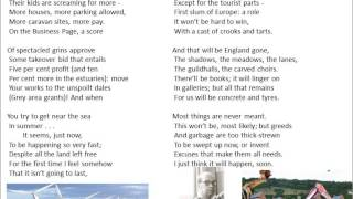 Going Going by Philip Larkin