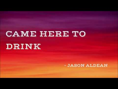 Came Here to Drink - Jason Aldean (Lyrics Video) | Mousik Lyrics