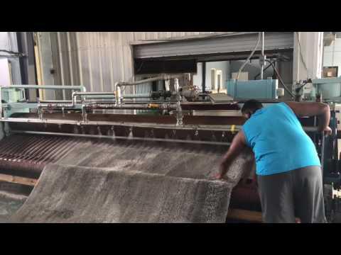 Limpieza de alfombra shaggy