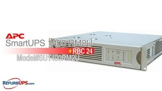 RBC24 Battery Replacement for APC SmartUPS 1400 RM2U
