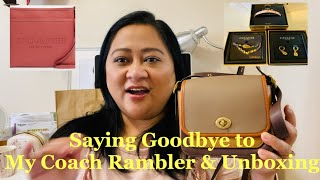 I Sold My Coach Rambler 16 🙊| Coach Handbag Unboxing And Accessories