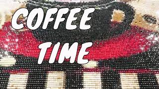 Coffee Time Diamond Painting Progress