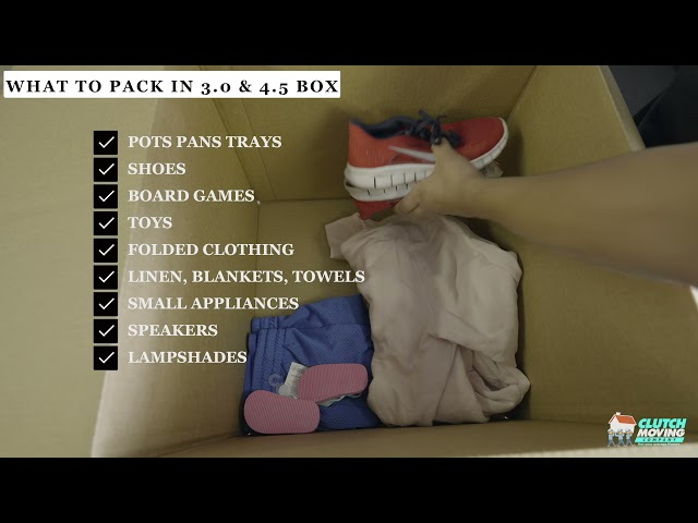 What Items to pack in boxes