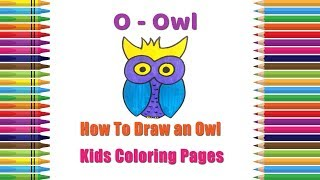 How To Draw An Owl Coloring Pages | Alphabets Coloring Pages | Baby Coloring Videos | Owl Drawing