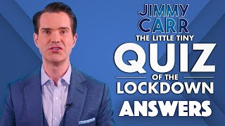 The Little Tiny Quiz Of The Lockdown | Answers WEEK 2 DAY 1 | Jimmy Carr