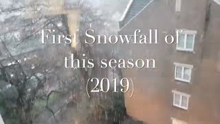 First Snowfall of the year (UK 2019) || Its snowing in Birmingham (Beautiful View)