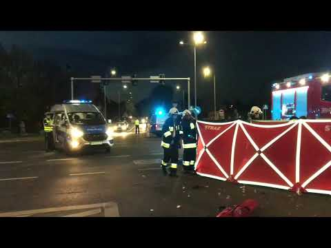 Wideo1: Śmiertelny wypadek motocyklisty na Alejach Jana Pawła II w Lesznie