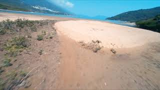 Racewhoop ~ Drone chasing on a mud flat 1 (Cinematic FPV video by GoPro Hero 6) 2.7K #ReelsteadyGo