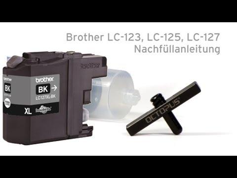 Brother LC-123, LC-125, LC-127 nachfüllen mit Refill Tool