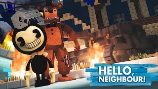 BENDY AND FREDDY BETRAY THE NEIGHBOUR!? Minecraft Hello Neighbour