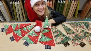 FASTEST LAST MINUTE CHRISTMAS TREE NAPKINS!