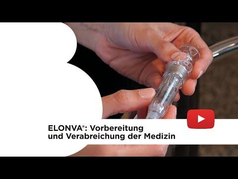 Elonva®: Vorbereitung und Verabreichung der Medizin