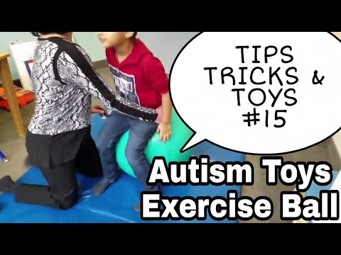 Screenshot of video: Autism Gym Ball Activities