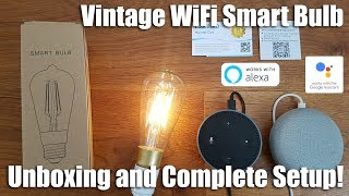 Retro / Edison Smart WiFi Bulb Works with Alexa and Google Home!