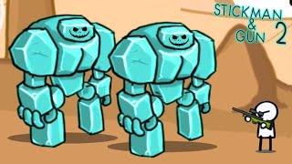 БЬЮ МОНСТРОВ С AWP! Мультяшная игра для детей Приключения нарисованного героя Stickman And Gun 2