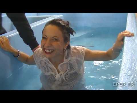 baptême par immersion de Cynthia