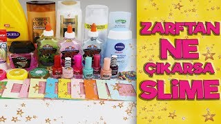 Zarftan Ne Çıkarsa Slime Challenge | İSTEK VİDEO | Eğlenceli Slime Challenge