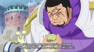 Video Akainu Talking To Gorosei And Fujitora ! One Piece Episode 736 English Subbed