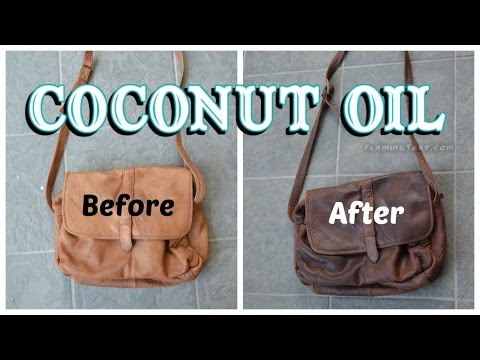 Video How to darken and soften leather with coconut oil