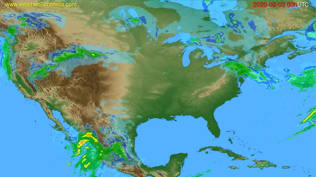 Radar forecast USA & Canada // modelrun: 12h UTC 2020-02-02