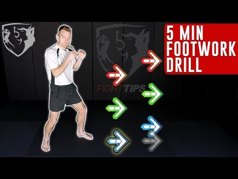 5min Boxing Footwork Drill: Follow Along with Punches! - YouTube