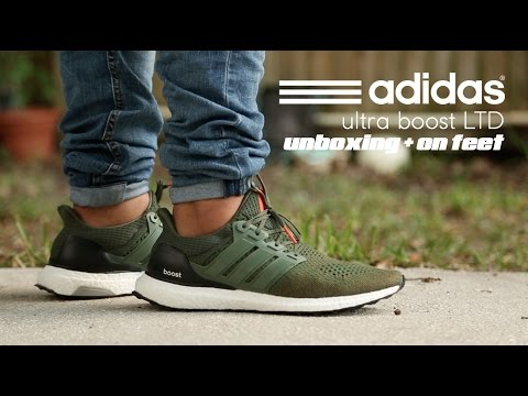 Adidas ultra Boost Ltd Base Verde unboxing en pies