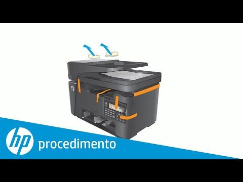 Desembalar e conectar a impressora HP LaserJet à energia