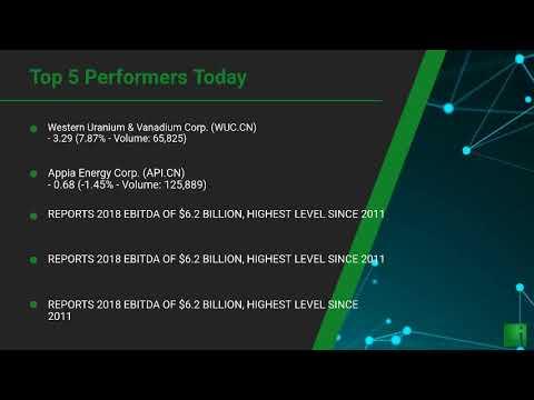 InvestorChannel's Uranium Watchlist Update for Thursday, September, 23, 2021, 16:00 EST