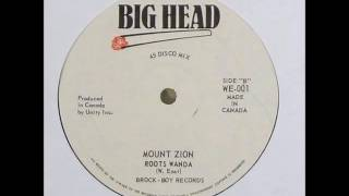 "Roots Wanda - Mount Zion + Dub - 12"" Big Head 1978 - CANADIAN ROOTS 70'S DANCEHALL"