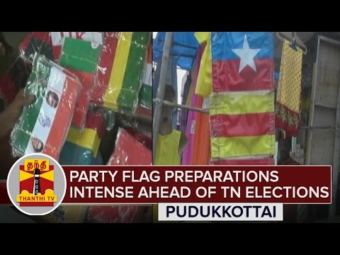 Party-Flag-preparations-Intense-ahead-of-TN-Elections-Detailed-Report-Thanthi-TV