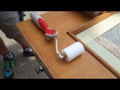 sehr einfache Anleitung um alte Tür neu zu lackieren streichen