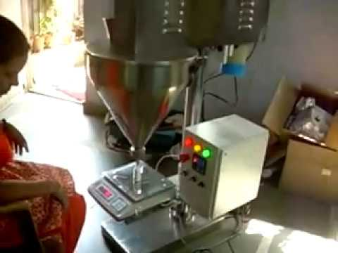 Semi Auto Powder Auger Filler machine