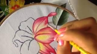 Pintando uma flor de figo
