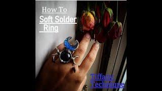 Soft Soldering Gemstone Ring | DIY | Crystal Ring Making | Witch Magic